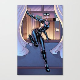 A night on the town - Catwoman Canvas Print