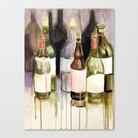 drunk Canvas Prints featuring Drunk by Andrea Leng
