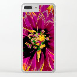 """Extreme Dahlia """"Ketchup & Mustard"""" Clear iPhone Case"""