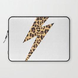 Wild Thing Leopard Lightning Bolt Laptop Sleeve