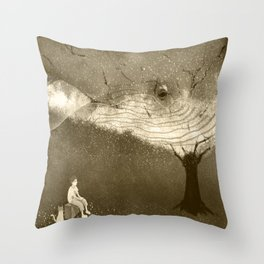 Whale for me Throw Pillow