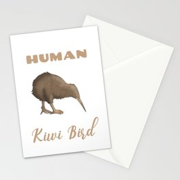 This Is My Human Costume I'm Really A Kiwi Bird Funny Halloween Stationery Cards
