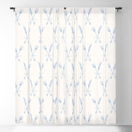 Cute set of knife and fork illustration Blackout Curtain