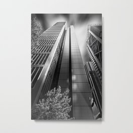 Black and white perspective of skyscrapers in Chifley Square in Sydney Metal Print