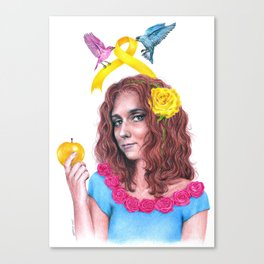 Snow White II   Endometriosis awareness Canvas Print