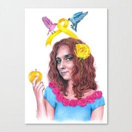 Snow White II | Endometriosis awareness Canvas Print