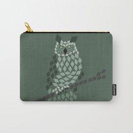 Diamond Mosaic Owl Carry-All Pouch