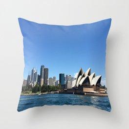 Opera of a Skyline Throw Pillow