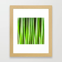 Tropical Green Riverweed Framed Art Print