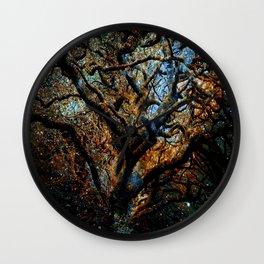 Mystic Tree of Knowledge Blue Brown Wall Clock