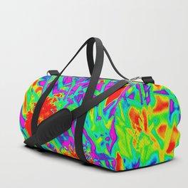 Psychedelic flower garden Duffle Bag