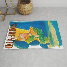 Sorrento Italy ~ Vintage Travel Poster Rug