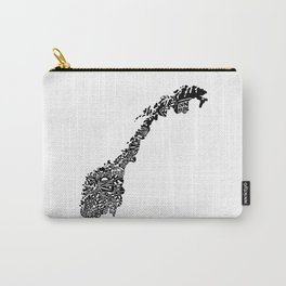 Typographic Norway European map art Carry-All Pouch