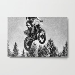 Got Some Air!  - Motocross Racer Metal Print