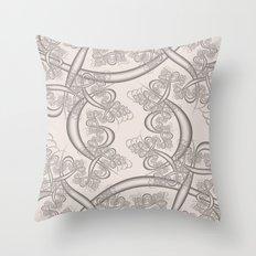 Bridal Blush Fractal Throw Pillow