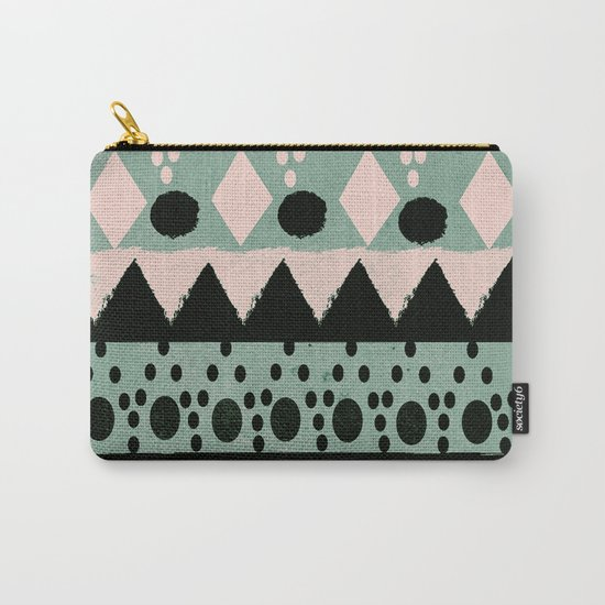 PASTEL NORDIC TRIBAL  Carry-All Pouch