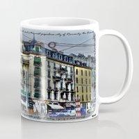 switzerland Mugs featuring Geneva -  Switzerland by Vehen§Nes