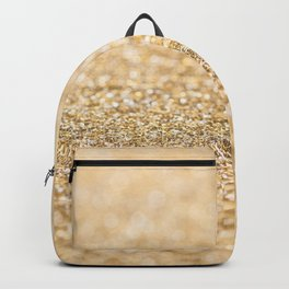 Beautiful champagne gold glitter sparkles Backpack