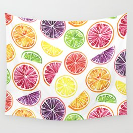 Citrus Wheels Wall Tapestry