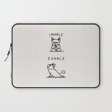 Inhale Exhale Frenchie Laptop Sleeve