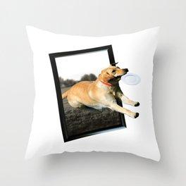 Dog Poster Throw Pillow