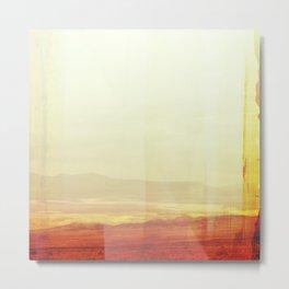 Modern Desert Landscape, Minimal Southwest Wall Art, Abstract New Mexico Metal Print