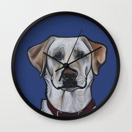 Huckleberry the yellow lab Wall Clock