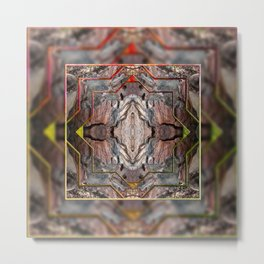 Petrified wood in abstract ... Metal Print