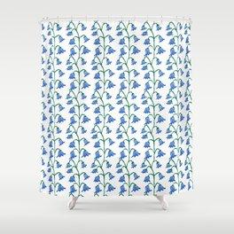 Folksy Bluebell Vines Shower Curtain