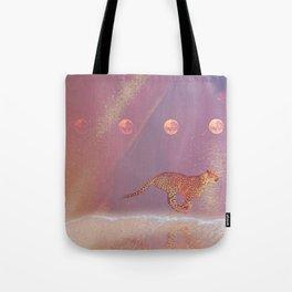 beach cheetah Tote Bag