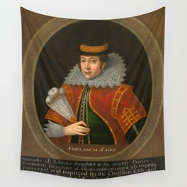 "Simon van de Passe ""Pocahontas"" Wall Tapestry"