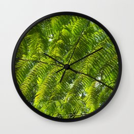 jungle fern Wall Clock