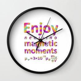 Enjoy Neutrino Magnetic Moments Wall Clock