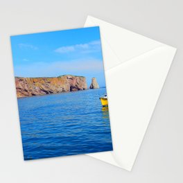 The Rock and the Yellow Boat Stationery Cards