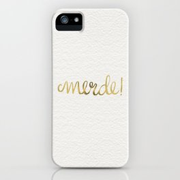 Pardon My French – Gold Ink iPhone Case