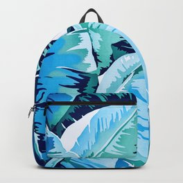 Banana leaf grandeur - aqua Backpack
