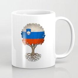 Vintage Tree of Life with Flag of Slovenia Coffee Mug