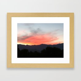 Palm Desert sky Framed Art Print