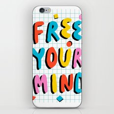 Hella' - retro 80s throwback memphis style trendy 1980's neon vibes typography iPhone Skin