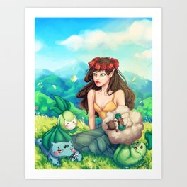 Fairy Grass Type Art Print