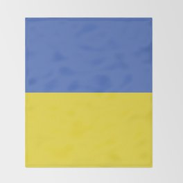 Ukraine flag emblem Throw Blanket