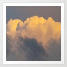 Walking on cloud 9 Art Print