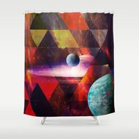 planet Shower Curtains featuring Planet by Tony Vazquez