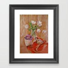 White tulips_2 Framed Art Print