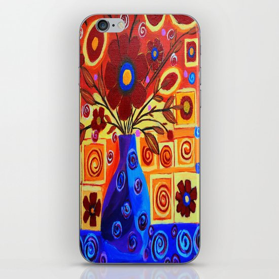 Flowers in vase iPhone & iPod Skin