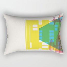 Shapes of Rio. Accurate to scale Rectangular Pillow