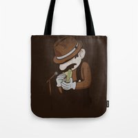 8 bit Tote Bags featuring 8-bit Blues by Jacques Maes