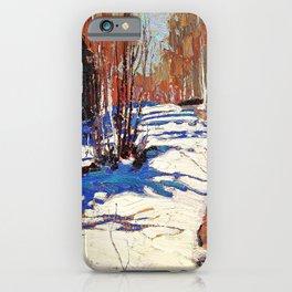12,000pixel-500dpi - Tom Thomson - Path Behind Mowat Lodge - Digital Remastered Edition iPhone Case