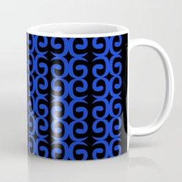 Luxury Spirals blueblack MOROCCO Coffee Mug