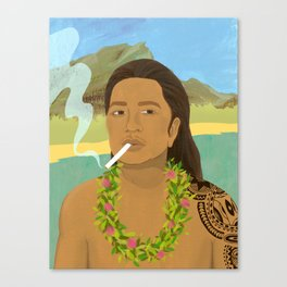 Polynesian Man Canvas Print